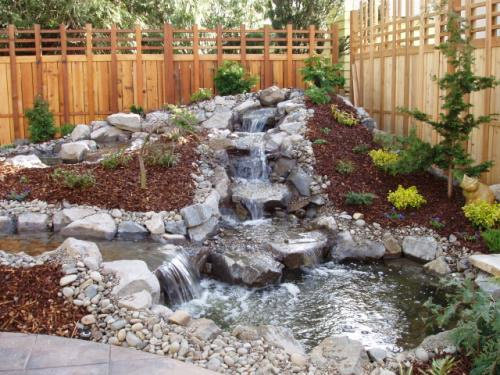 waterfall backyard